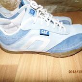 (№і250)фирменные кожаные кроссовки 39 р UK 6 Cat