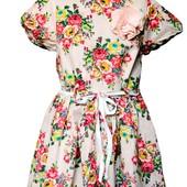Платье Zara Испания в цветочных принтах, с подкладкой