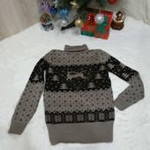 свитер вязаный с оленем