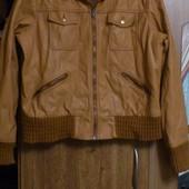 Современная демисезонная курточка из экокожи