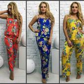 Женская атласная пижама 46-50