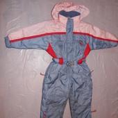 р. 104-110, термокомбинезон, теплый зимний лыжный комбинезон