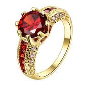 Позолоченное кольцо с цирконами р 17,18,19