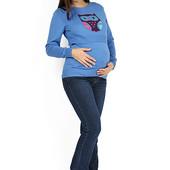 Джинсы синие для беременных