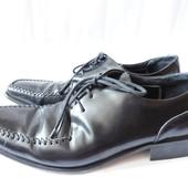100% Италия Кожаные туфли р.43
