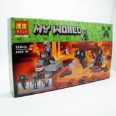 конструктор bela серия my world 10469 иссушитель (аналог lego майнкрафт, minecraft 21126)