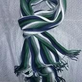 Шарф вязанный , многоцветный  ТСм-Такко(германия), размер 30 на 180 см