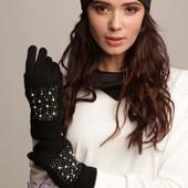 Перчатки из кашемира на флисе