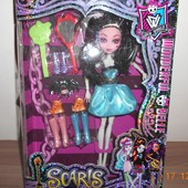 Кукла Monster High, шарнирная, 25 см, акссесуары, в коробке