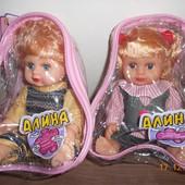 Joy Toy Кукла Алина разговаривает, на батарейке, в рюкзаке, высота 29 см, 2 вида