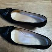 Замшевые  черные туфли 41, Монарх