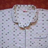 размер 22-24 (xxl-xxxl) Байковая женская пижама, б/у.