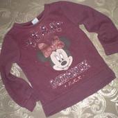 Реглан, свитшот  Disney Minnie Mоuse р.104-110 (4-5 лет)