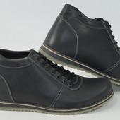 Зимние кожаные ботинки Y-3, black