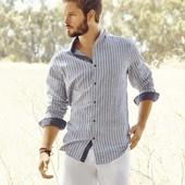 Рубашка льняная мужская S Livergy Германия