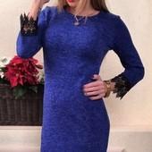 Элегантные ангоровые женские платья разных цветов