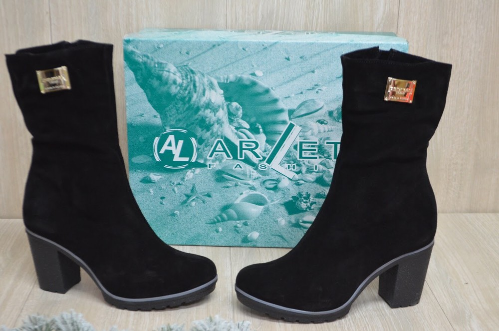 Женские зимние ботинки натуральная кожа и мех фото №1