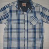 рубашка(лён+котон) на 7-8 лет