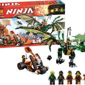 """Конструктор Bela Ninja 10526 """"Зелёный дракон Ллойда"""" 603 дет."""