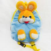Детский рюкзак Зайчик, мягкая игрушка