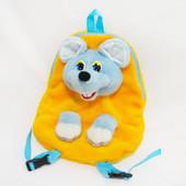 Детский рюкзак Мышка, мышонок, мягкая игрушка