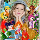 Портрет Вашего ребенка с героями мультфильмов (в електронном виде)