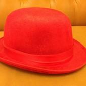 Шляпа красная карнавальная, 57-58