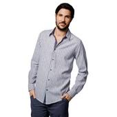 Суперская полосатая льняная рубашка от Livergy размер S (37-38) M(39-40) L(41-42)