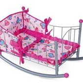 Игрушечная кроватка для куолк металлическая, размер 36,0*10,0*65,0см