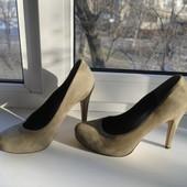 Туфли By Jessica 38 1/2 р.  натуральная замша