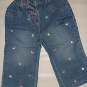 красивые джинсы на 3-6 мес