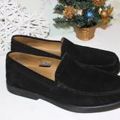 42 28см Geox Натуральные замшевые мокасины туфли