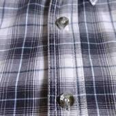 мужская плотная рубашка в клетку. р. L хорошее состояние хлопок