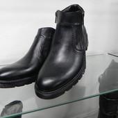 Кожаные ботинки 39,40
