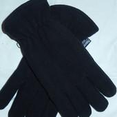 Мужские флисовые перчатки,р-р универсальный,сток