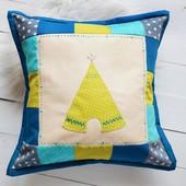 Декоративная подушка с апликацыей