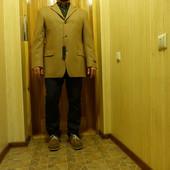 Мягкий чисто шерстяной однобортный пиджак . Strellson Швейцария 52 р