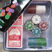 Набор для игры в Покер - в жестяной коробке - разные