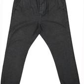 Мужские штаны брюки серые туманные низ резинка Topman 32 R 81 см R