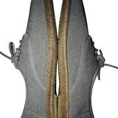 Мокасины на кожаных шнурках кеды серо песочные Classics Spain р42 стелька 27 см