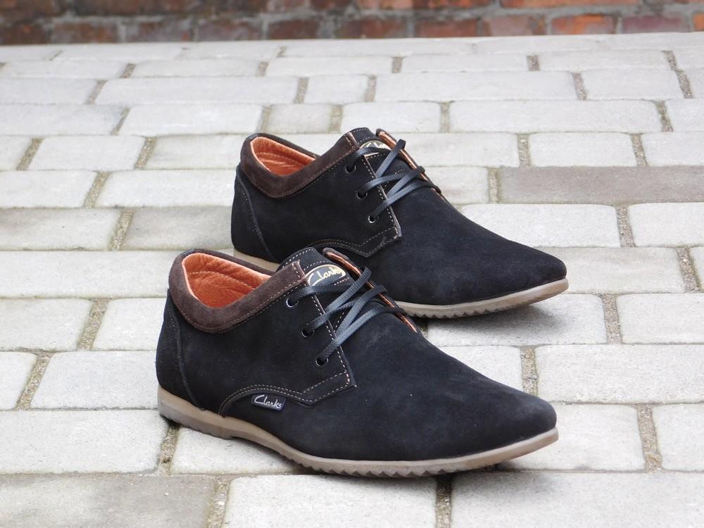 Туфли clarks, р. 40-45, две модели, син, черн, код gavk-10047 фото №2