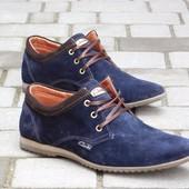 Туфли Clarks, р. 40-45, две модели, син, черн, код gavk-10047