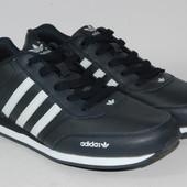 Мужские кожаные кроссовки Adidas Адидас