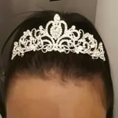 Корона. Диадема.для волос свадебная, для выпускных вечеро