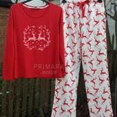 Женская пижама трикотаж + байка. Размер S. Primark