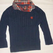 свитер джемпер-рубашка обманка на 12-18 мес