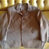 Стильный новый пиджак в клетку, Германия, шерсть, р.54