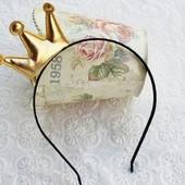 обруч Корона код А-06 золото, серебро цена 51 грн