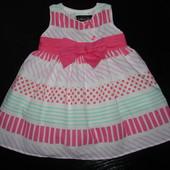 нарядное платье Nutmeg 3-6 мес (можно до 9) верх х/б как новое