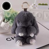 Меховой брелок Кролик, Зайчик